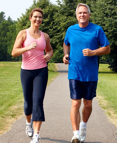 Jogging exercise belly fat