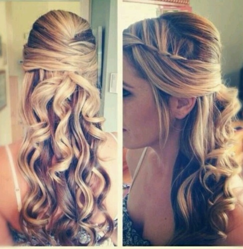 Curly Hairstyle with Waves