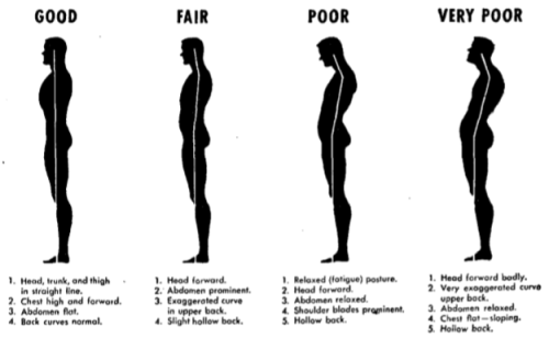 Maintaining a proper posture