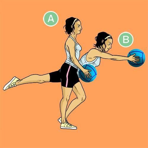 medicine ball exercises - Romanian Dead Lift