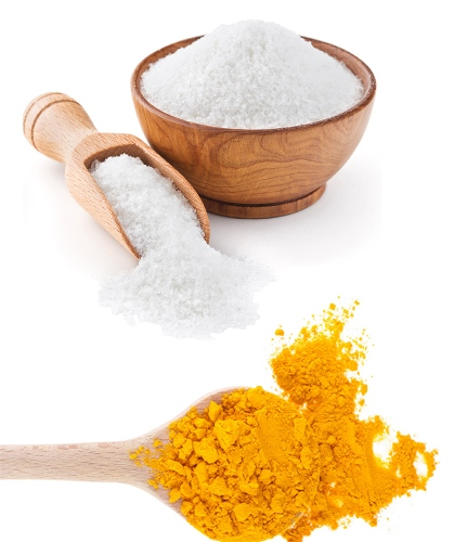 salt and turmeric