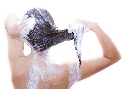 Shampoo Less Often for shiny hair