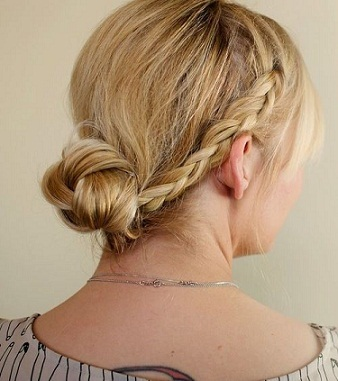 Low Knot Braided Hair