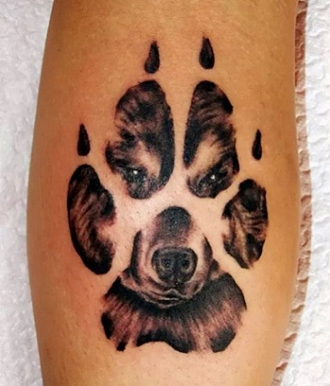 Dog Paw Tattoo Designs
