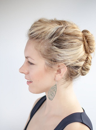 Teased Double Bun