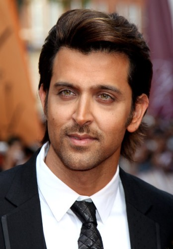 Side-Parted Brushed Up Hairstyle for Men