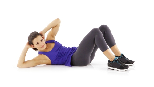 Belly fat exercise - Twist Crunches