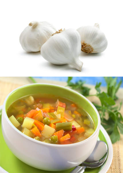 Vegetable Soup with Garlic