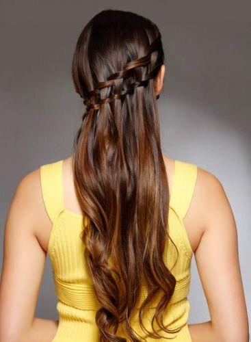 Waterfall Braid Medium hair