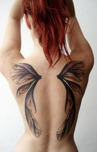 Angel wing tattoo | Tattoos for single mums | Beanstalk Single Mums