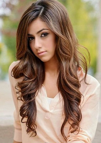 Side Parted Long Waves Hair Style