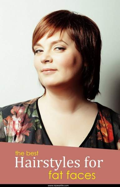 Admirable Top 25 Hairstyles For Fat Faces Women Styles At Life Short Hairstyles Gunalazisus