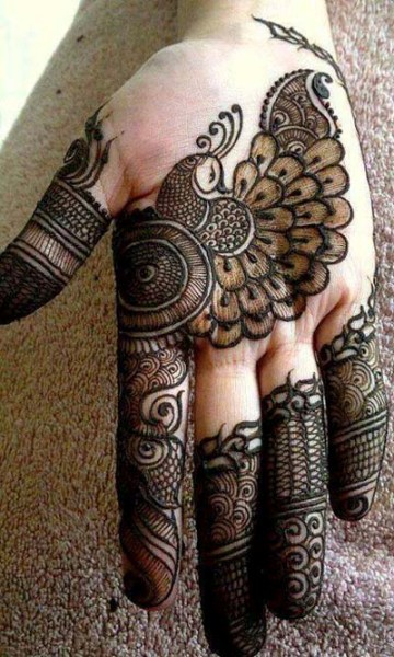 Peacock Mehndi Designs for bride