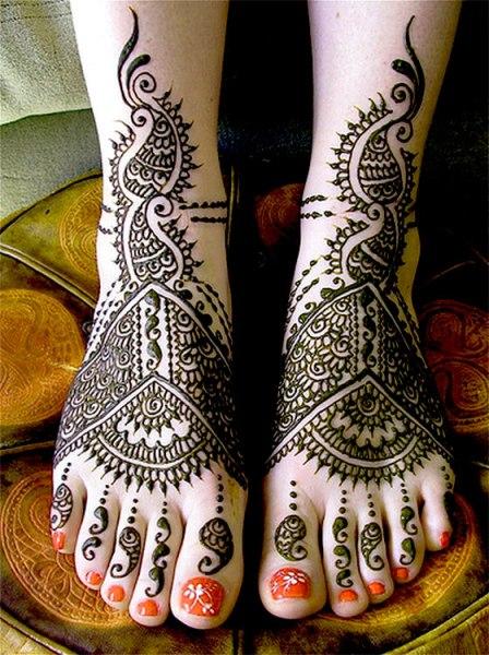 Bridal Mehndi Designs For Foot