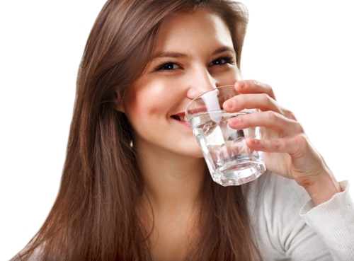 Drinking water woman3