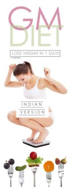 gm diet plan indian version
