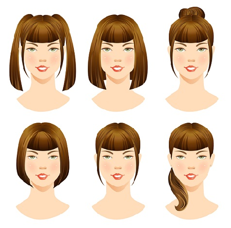 Hairstyles with bangs - MAin