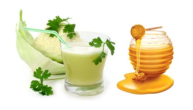 Honey and Cabbage juices