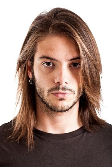 Modern hairstyles for men - Wispy side bangs