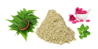 Multani Mitti, neem, rose petals, rosewater and tulsi