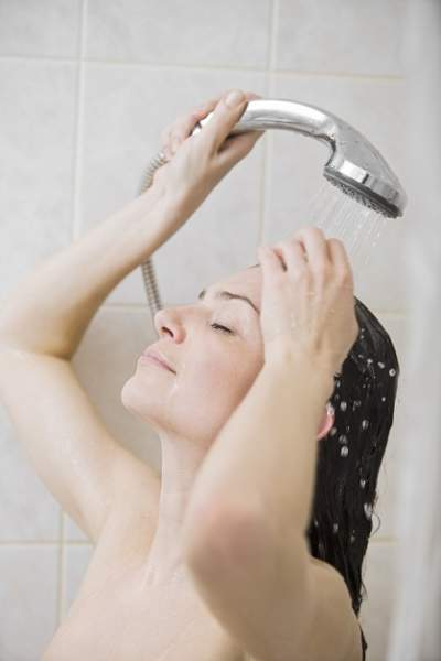 Showering Woman