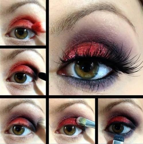 Red Eye Makeup Looks