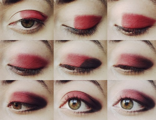 red eye makeup