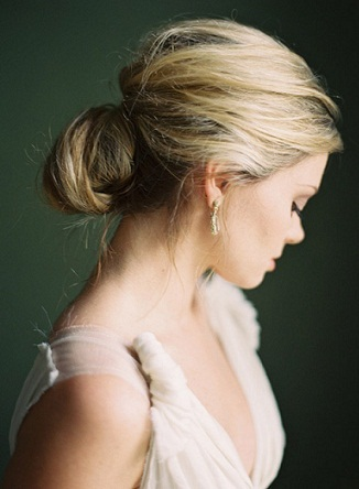The blonde messy bun