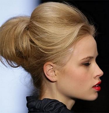 The thin hair blonde bun