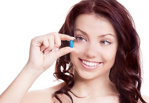 Vitamin e capsules for skin