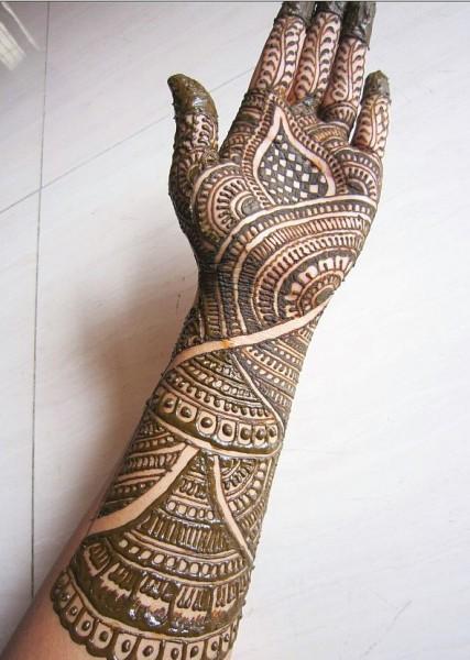 Floral Mehandi Design for Brides