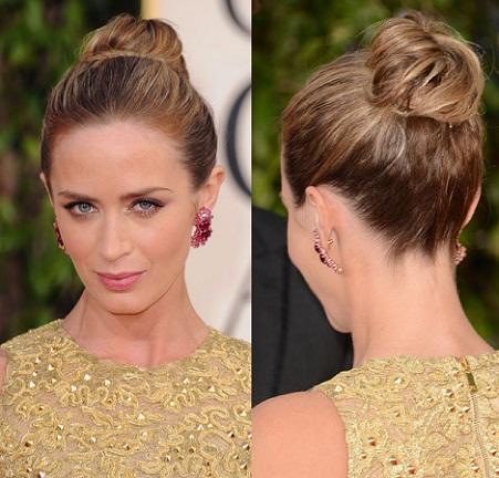 celebrity bun hairstyle