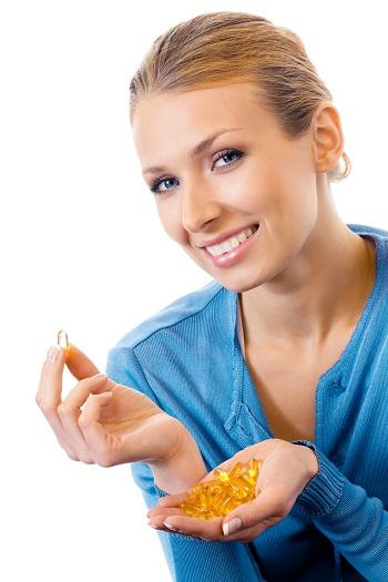 dry skin - fish oil capsules