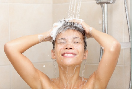 hot water for hair fall