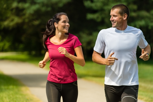 jogging couples