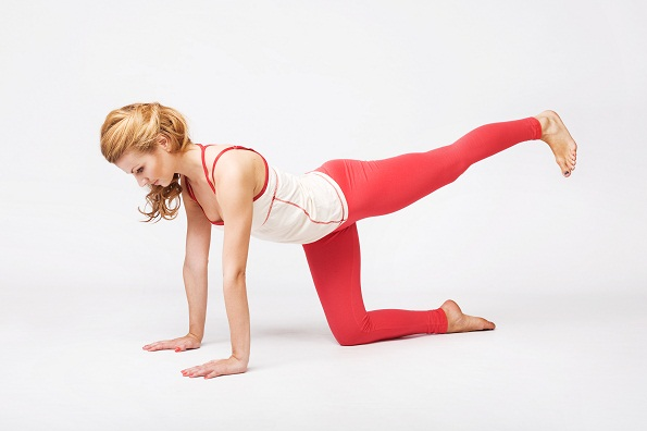 stretching exercise on the floor