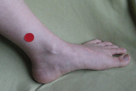Acupressure Points For Weight loss ankle point