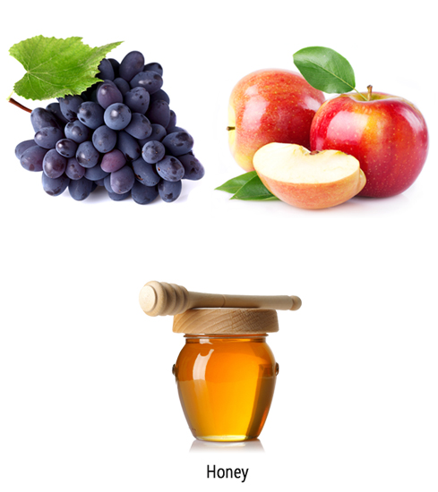 Grape Pulp, Apple Pulp and Honey