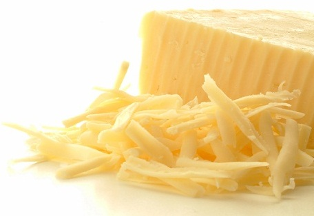 grated cheddar cheese with block