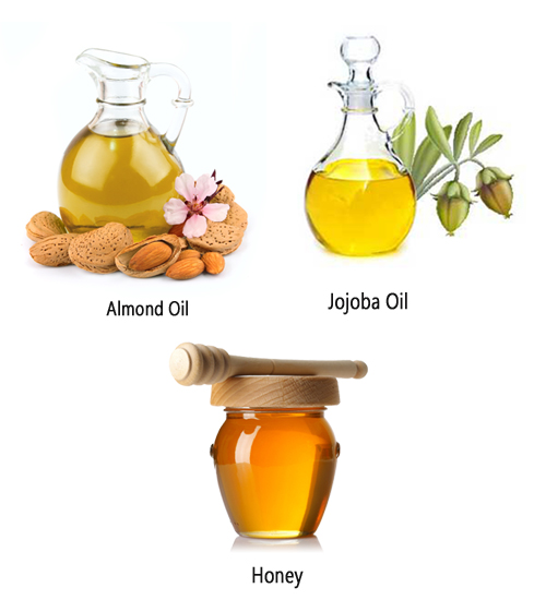 Honey, Almond Oil and Jojoba Oil