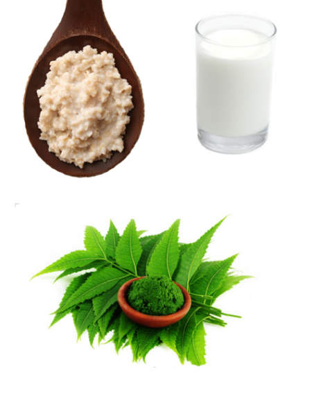 Neem Powder Milk and Oatmeal