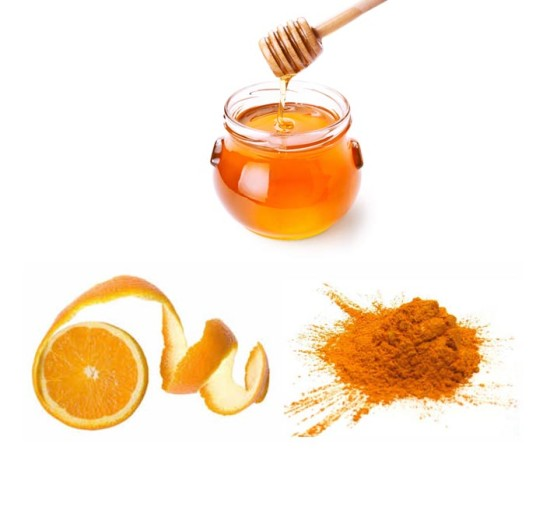 Orange Peel Paste, Pulp and Honey