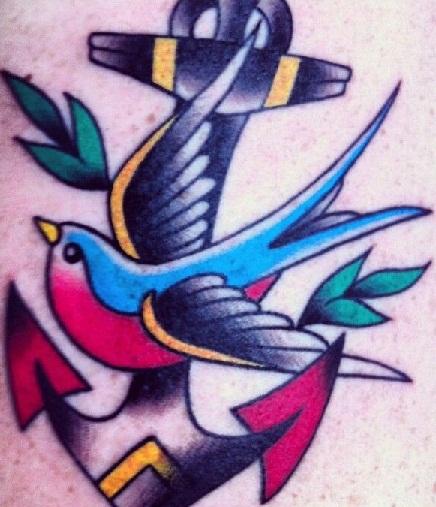 Beautiful Swallow Tattoo Designs13