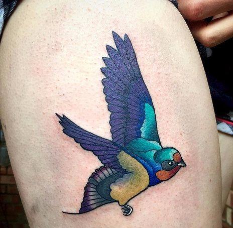 Beautiful Swallow Tattoo Designs15