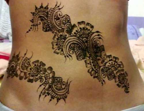 Belly Mehendi Design 1