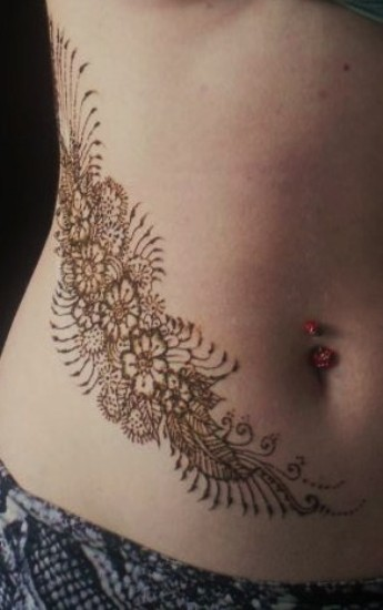 Belly Mehendi Design 5