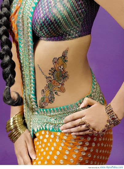 Belly Mehendi Design 8