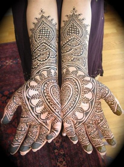 Complete each other mehndi design