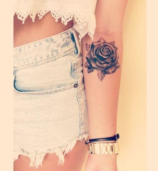 simple rose tattoo design