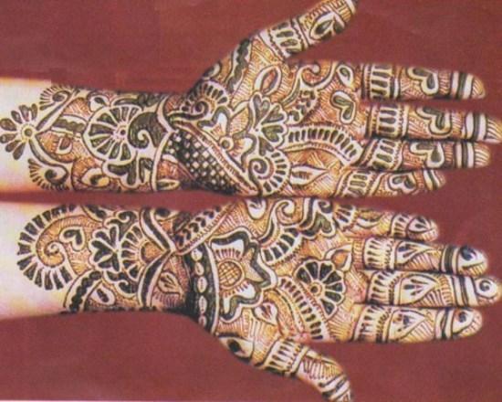 Golden matte mehandi